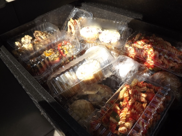 Some of the food recovered from Rio Salado College